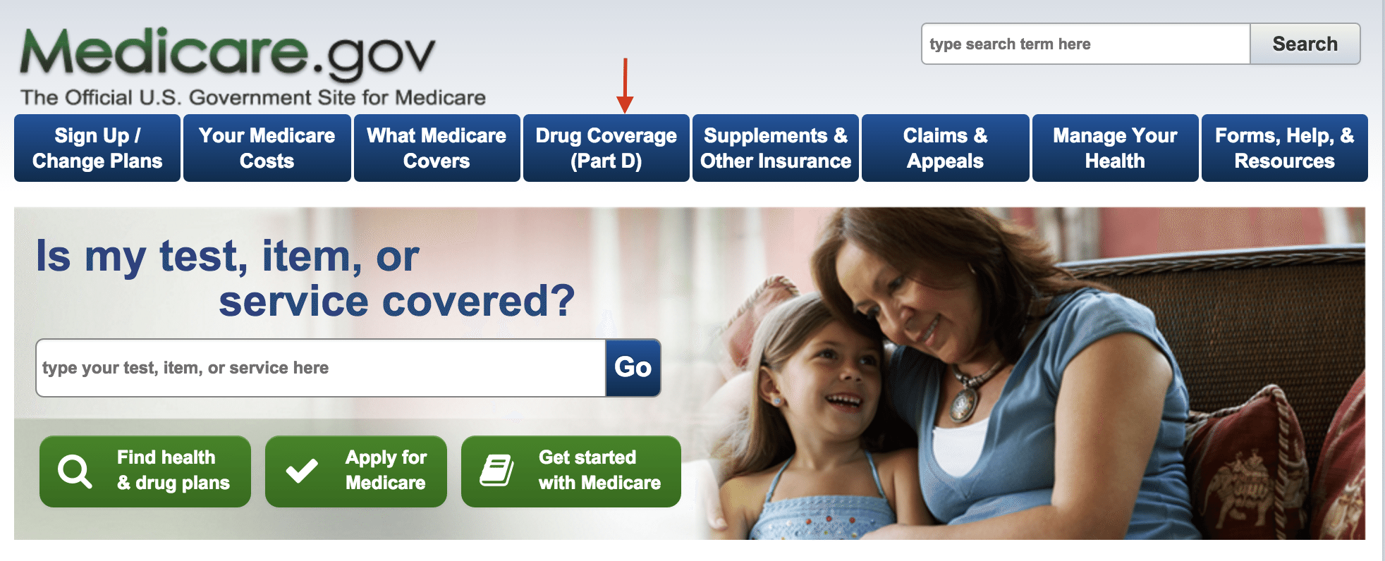 Medicare.gov Homepage