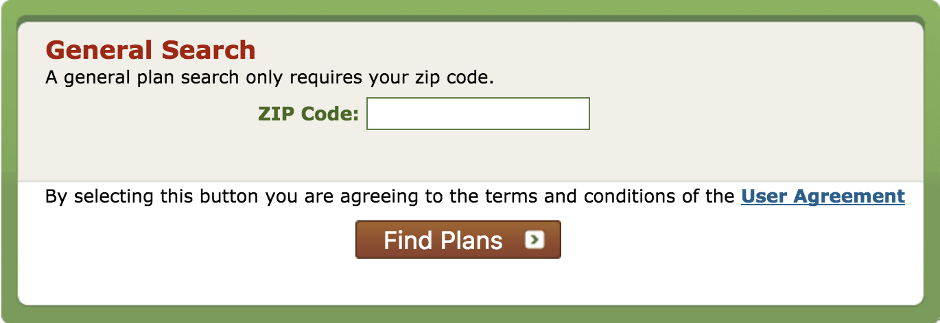Plan Finder Page Zip Code