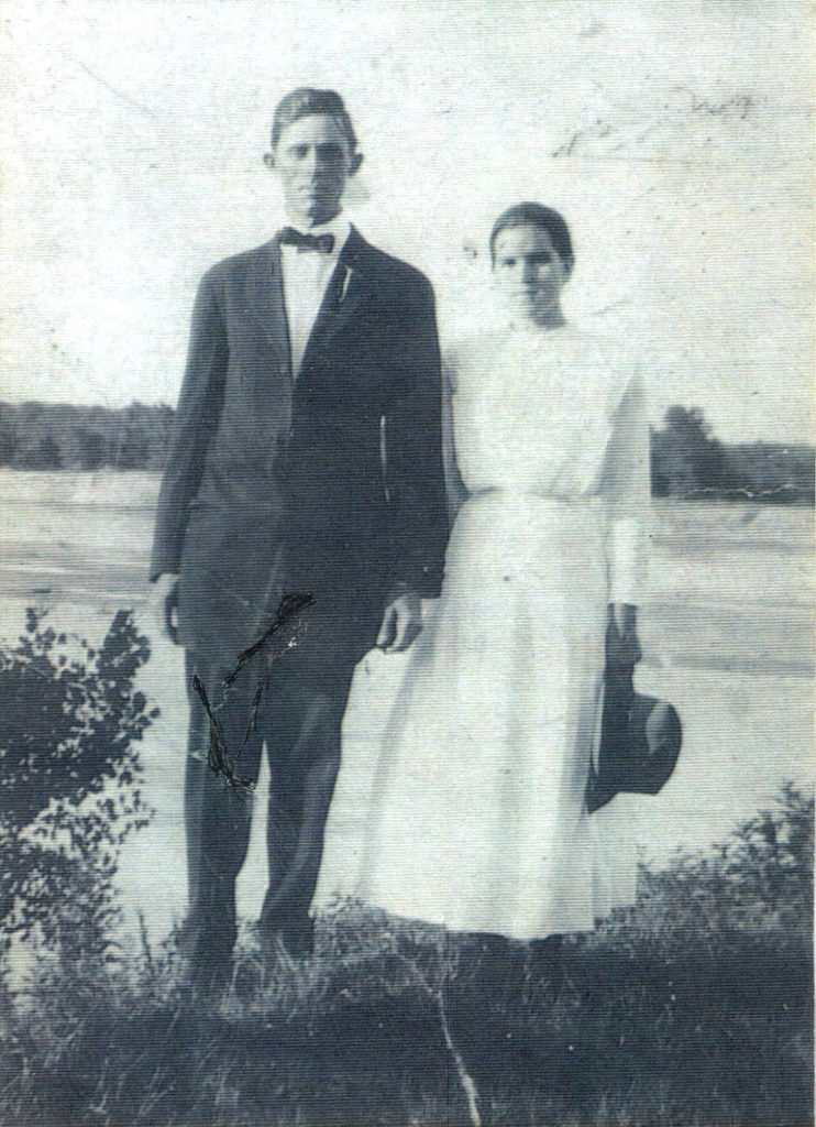 Granddaddy and Granny wedding day 1900