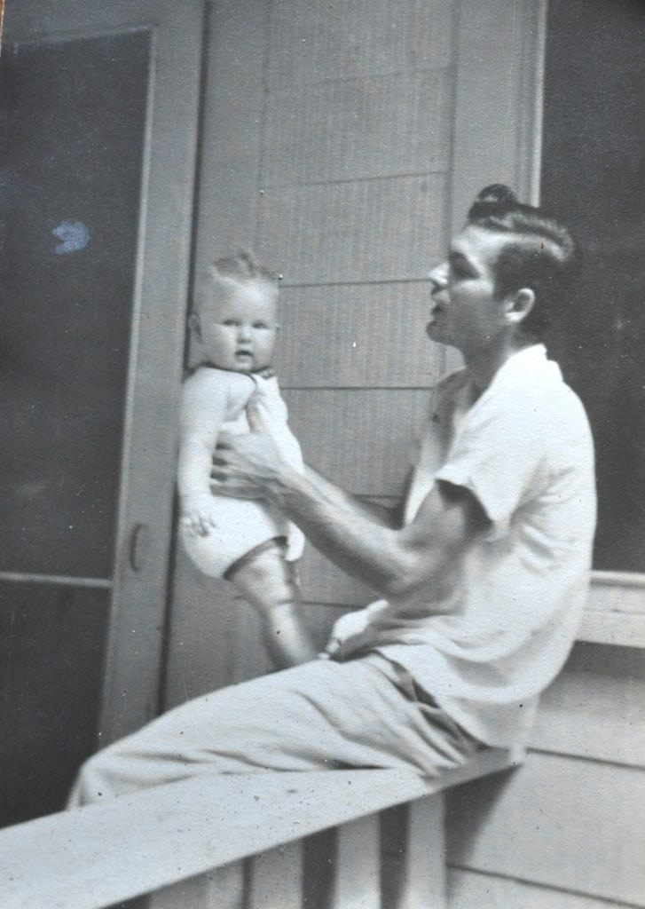 Baby Karen and her father