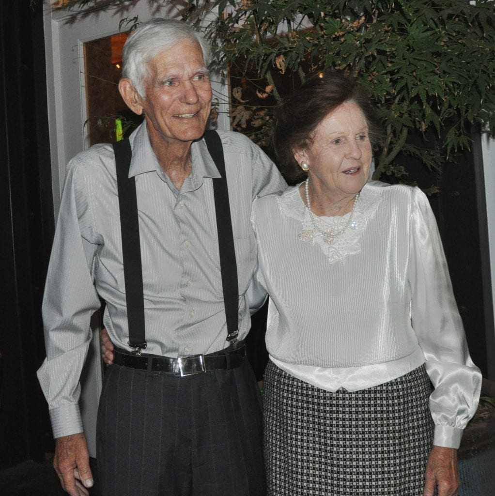 Dad and mom celebrating their 64th anniversary