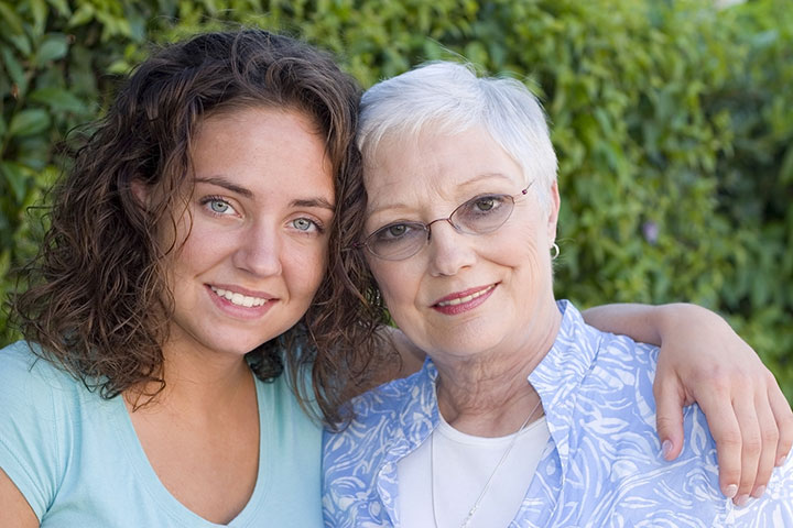 Mon Ami, College age young woman with a senior woman