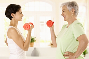 Older woman doing exercise